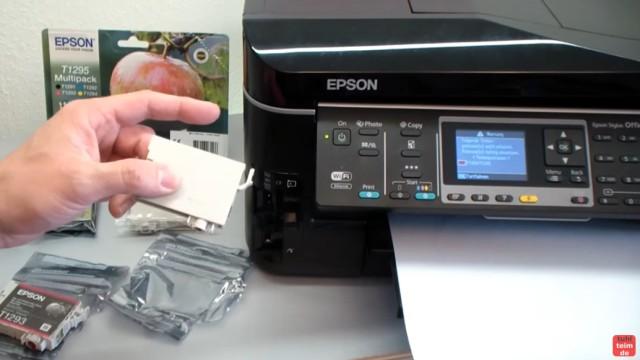 Epson Drucker erkennt Patronen nicht - meldet falsche Tintenpatronen - kompatible Patronen - der Epson meldet ein Problem mit den Tintenpatronen