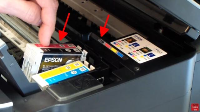 Epson Drucker erkennt Patronen nicht - meldet falsche Tintenpatronen - kompatible Patronen - prüfen, ob die Patronen vertauscht wurden