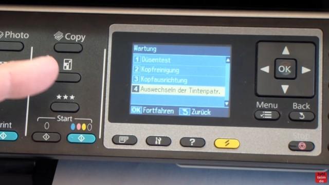 Epson Drucker erkennt Patronen nicht - meldet falsche Tintenpatronen - kompatible Patronen - neue, richtige Tintenpatrone wurde erkannt