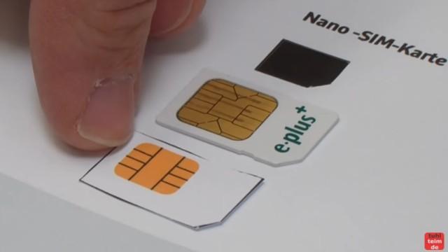 Handy SIM-Karte zu Micro / Nano zuschneiden und Mini-SIM-Adapter selber bauen - Vergleich der Kontaktflächen
