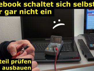 Medion Notebook schaltet sich selbst ein oder gar nicht ein - Netzteil testen