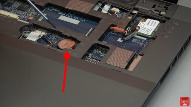 Nexoc XMX Clevo W370ST Gaming Notebook Festplatte SSD Lüfter RAM CMOS Reparatur - CMOS-Batterie CR2032 wechseln