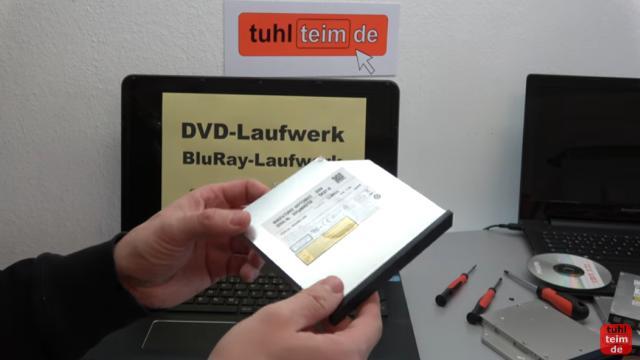 Notebook DVD Laufwerk oder BluRay ausbauen und wechseln - optische Laufwerke sind als SATA-Laufwerk eingebaut