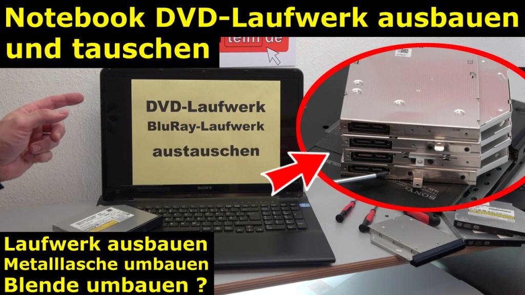 notebook optisches laufwerk austauschen cd dvd 1024x576. Black Bedroom Furniture Sets. Home Design Ideas