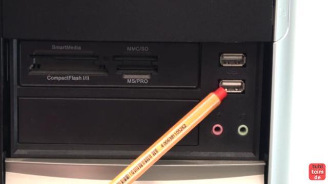 PC defekt - geht nicht an - Bildschirm bleibt schwarz - Reparaturanleitung - USB-Schnittstellen können einen Kurzschluss verursachen