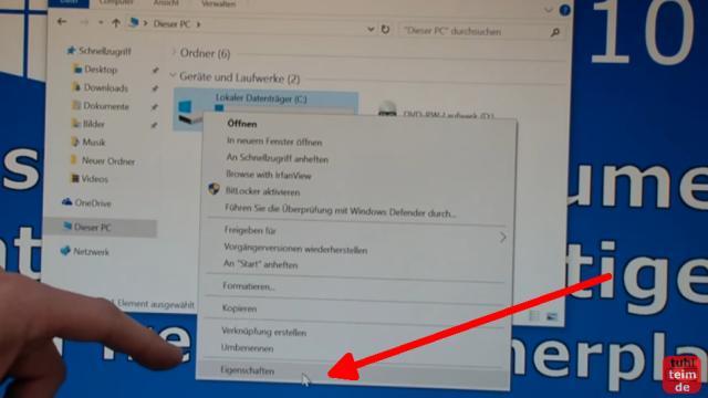 Windows 10 Festplatte aufräumen säubern Datenmüll beseitigen Windows schneller machen - zuerst das Laufwerk mit Windows bereinigen