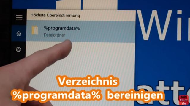 Windows 10 Festplatte aufräumen säubern Datenmüll beseitigen Windows schneller machen - %programdata% - alte Programmdaten löschen