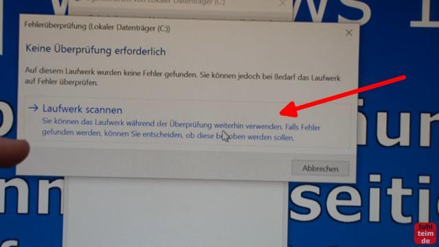 Windows 10 Festplatte aufräumen säubern Datenmüll beseitigen Windows schneller machen - Windows 10 Laufwerk scannen