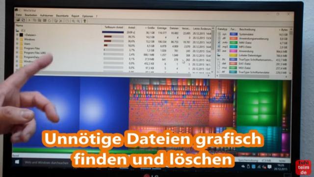 Windows 10 Festplatte aufräumen säubern Datenmüll beseitigen Windows schneller machen - mit WinDirStat die Platte aufräumen und analysieren
