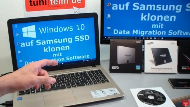 Windows 10 auf Samsung SSD Evo klonen mit Samsung Software - Fehler 301001 FIX Error - mit diesem Video könnt Ihr die Platte eines PCs oder Notebooks klonen