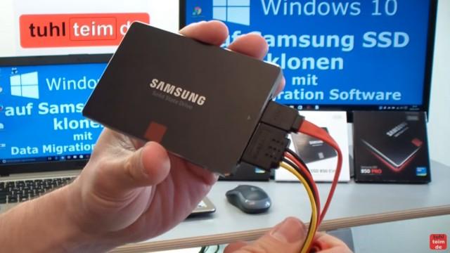 Windows 10 auf Samsung SSD Evo klonen mit Samsung Software - Fehler 301001 FIX Error - SSD direkt an SATA anschließen