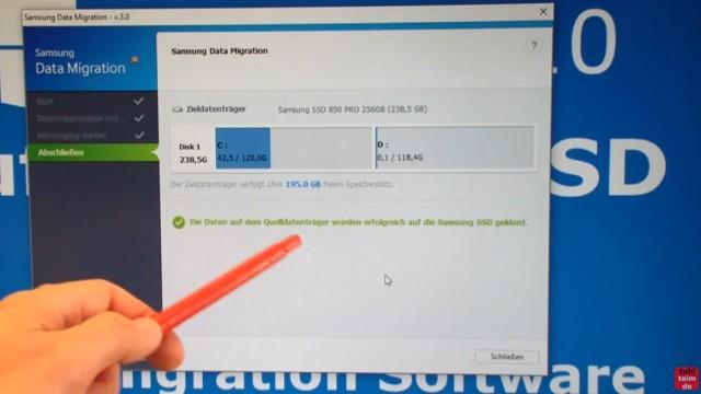 Windows 10 auf Samsung SSD Evo klonen mit Samsung Software - Fehler 301001 FIX Error - der Klonvorgang ist beendet