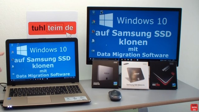 Windows 10 auf Samsung SSD Evo klonen mit Samsung Software - Fehler 301001 FIX Error - der Rechner bootet mit der neuen SSD einwandfrei