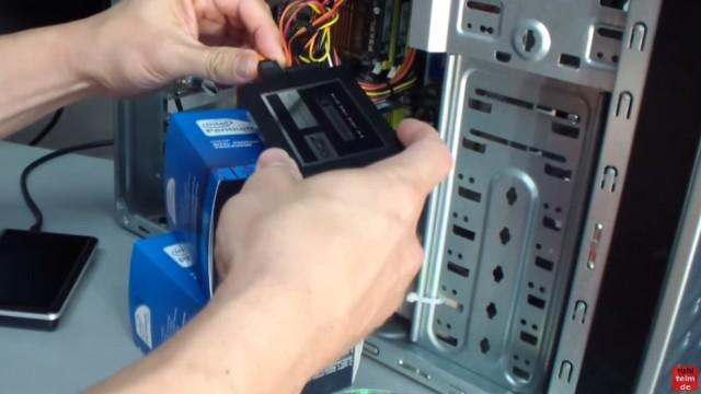 Windows 7 Festplatte auf SSD oder HDD klonen ohne Extrasoftware - nach dem Ausschalten des PCs kann die Platte gegen die neue SSD (oder HDD) gewechselt werden
