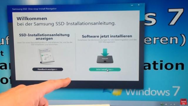 Windows 7 auf Samsung SSD Evo klonen mit Samsung Data Migration Software - Software jetzt installieren