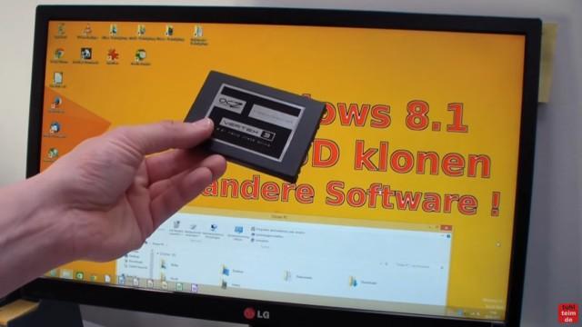 Windows 8.1 Festplatte auf SSD / HDD klonen ohne Extrasoftware - auf diese SSD soll Windows geklont werden