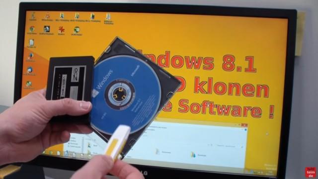 Windows 8.1 Festplatte auf SSD / HDD klonen ohne Extrasoftware - Ihr benötigt die SSD, eine Windows 8 / 8.1-Boot-CD oder einen USB-Stick