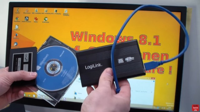 Windows 8.1 Festplatte auf SSD / HDD klonen ohne Extrasoftware - und eine USB-Festplatte mit USB2.0 oder USB3.0