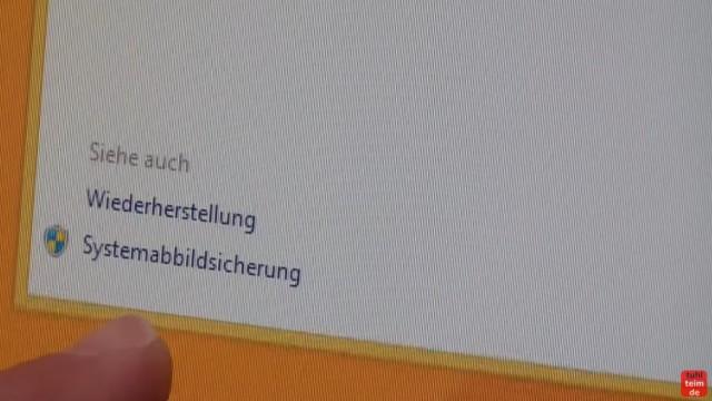 Windows 8.1 Festplatte auf SSD / HDD klonen ohne Extrasoftware - klickt dort (unten links) auf den Punkt Systemabbildsicherung