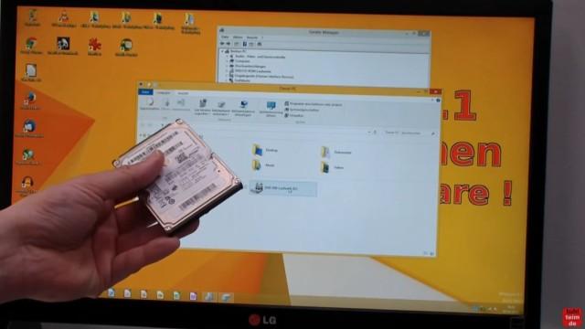 Windows 8.1 Festplatte auf SSD / HDD klonen ohne Extrasoftware - Windows 8 / 8.1 ist fertig geklont und bootet jetzt von der neuen SSD