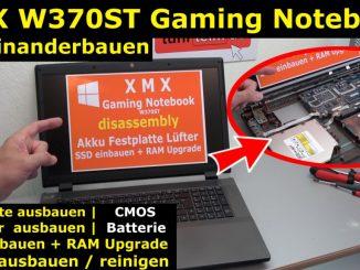 Nexoc XMX Clevo W370ST Gaming Notebook Festplatte SSD Lüfter RAM CMOS Reparatur