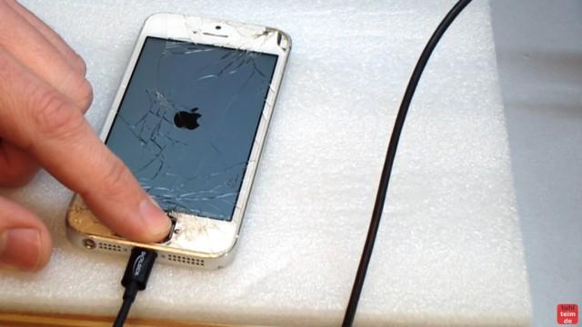 iPhone Hard Reset deutsch - deaktiviertes iPhone ohne SIM zurücksetzen Update - das iPhone schaltet sich dann ein