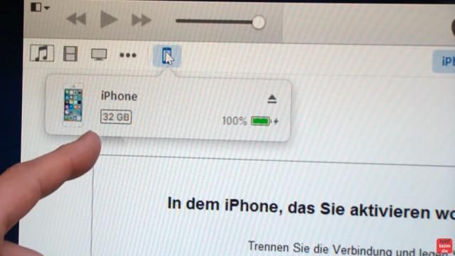 iPhone Hard Reset deutsch - deaktiviertes iPhone ohne SIM zurücksetzen Update - das iPhone wird von iTunes wieder erkannt