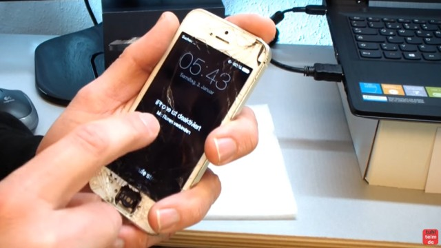 iPhone Hard Reset deutsch - deaktiviertes iPhone ohne SIM zurücksetzen Update - dieses iPhone ist deaktiviert und komplett gesperrt