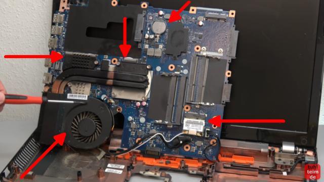 Acer Notebook defekt - öffnen und reparieren - Mainboard ausbauen - V3 771G - Lüfter, CPU, GPU, Heatpipe und WiFi-Modul prüfen