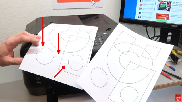 Canon Drucker druckt nicht richtig - gelöst - fehlerhafter Ausdruck - links der fehlerhafte Ausdruck - rechts das Original