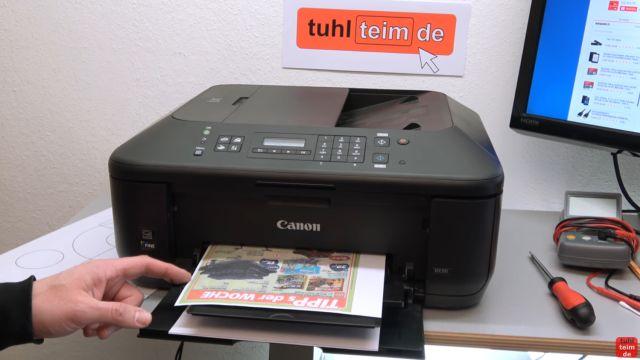 Canon Drucker druckt nicht richtig - gelöst - fehlerhafter Ausdruck - abschließender Testdruck in Farbe