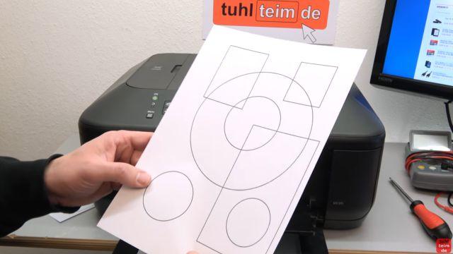 Canon Drucker druckt nicht richtig - gelöst - fehlerhafter Ausdruck - fehlerfreier Testausdruck nach der Reinigung des Positionsbands / Indexbands