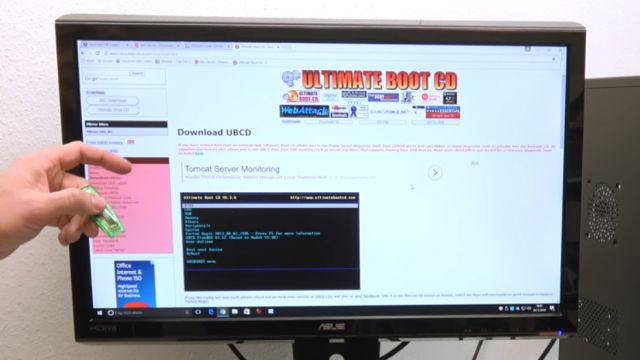 Linux auf USB-Stick erstellen - Linux Live USB Creator - Ultimate Boot CD Webseite mit Download