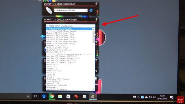 Linux auf USB-Stick erstellen - Linux Live USB Creator - Linux Live Version / Image aus Liste auswählen