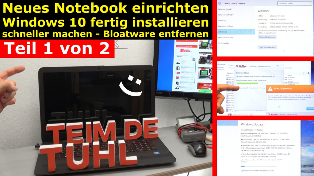 Neues notebook einrichten teil 1 windows 10 fertig for Neues bad einrichten