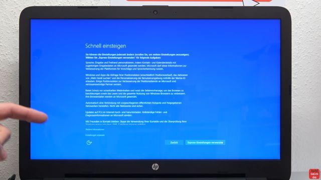 Neues Notebook einrichten - Teil 1 - Windows 10 fertig installieren und schneller machen - Einstellungen vornehmen oder Express-Einstellungen auswählen