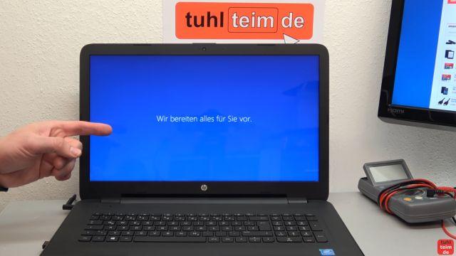 Neues Notebook einrichten - Teil 1 - Windows 10 fertig installieren und schneller machen - Windows 10 wird fertig installiert