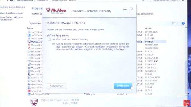Neues Notebook einrichten - Teil 1 - Windows 10 fertig installieren und schneller machen - McAfee deinstallieren