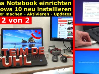Neues Notebook einrichten - Teil 2 - Windows 10 komplett neu installieren