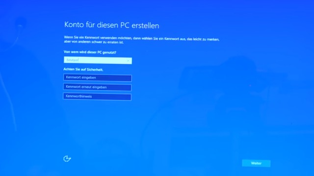 Neues Notebook einrichten - Teil 2 - Windows 10 komplett neu installieren - neues Konto für Windows 10 erstellen