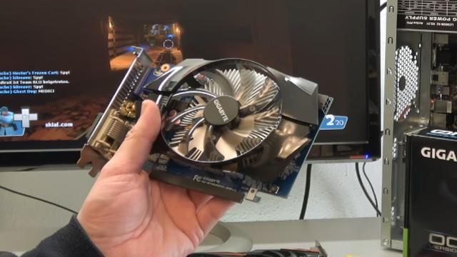 Nvidia Geforce GTX1060 GTX960 GT740 Grafikkarten Test Benchmark Installation - die GT 740 mit 6-poligem Stromanschluss ist eine Einsteiger-Grafikkarte