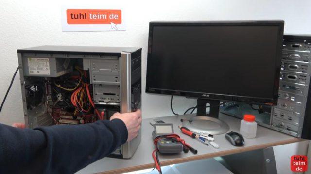 PC geht nicht an - defekt - ohne Funktion - PC reparieren - dieser PC lässt sich gar nicht mehr einschalten - kein Bild, kein Ton, Lüfter drehen sich nicht
