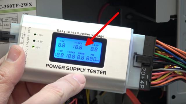 PC geht nicht an - defekt - ohne Funktion - PC reparieren - Netzteiltester zeigt dann falsche Werte an