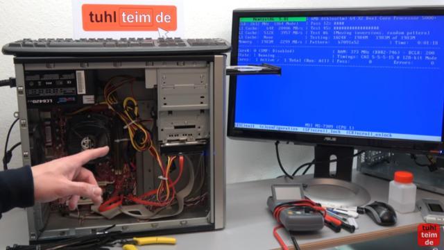 PC geht nicht an - defekt - ohne Funktion - PC reparieren - neues Netzteil und PC über einige Stunden testen