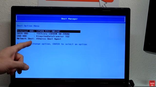 Windows 7 Update funktioniert nicht - Win7 neu installieren + Update-Problem lösen - mit F12 Bootmenü aufrufen oder vorher im Bios einstellen