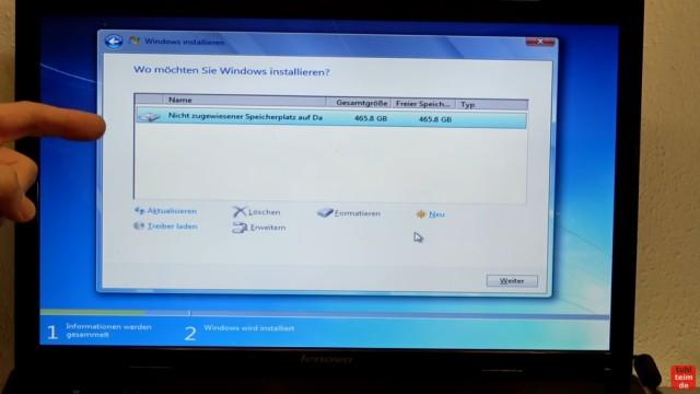 Windows 7 Update funktioniert nicht - Win7 neu installieren + Update-Problem lösen - Partitionen löschen oder anlegen