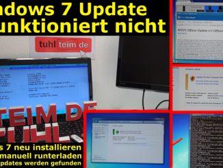 Windows 7 Update funktioniert nicht - Win7 neu installieren + Update-Problem lösen