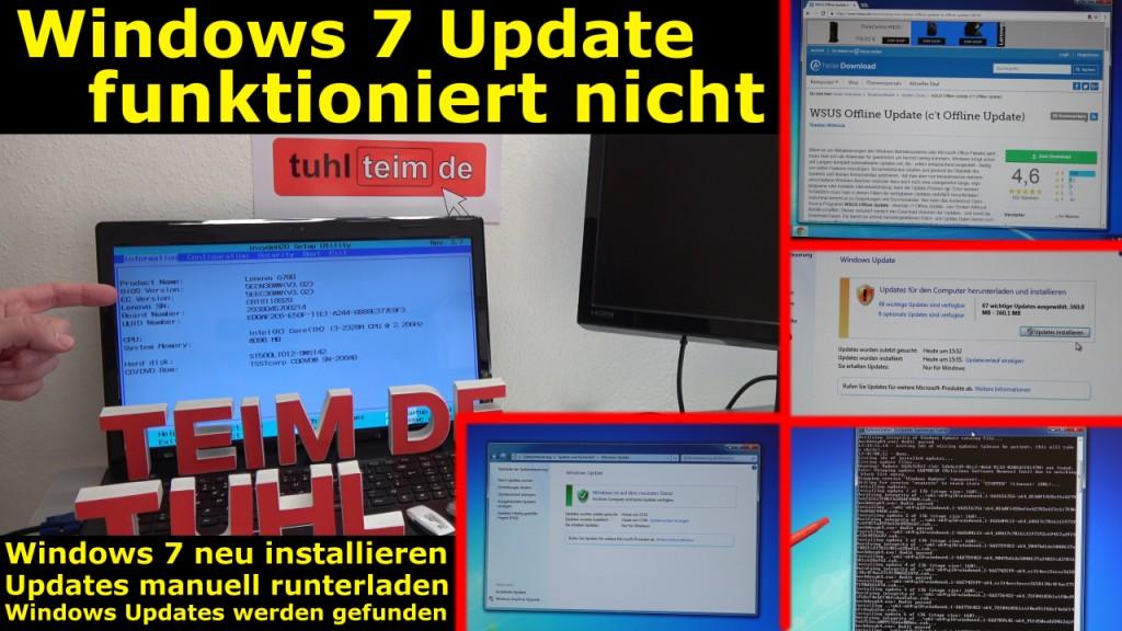 windows 7 update funktioniert nicht win7 neu. Black Bedroom Furniture Sets. Home Design Ideas