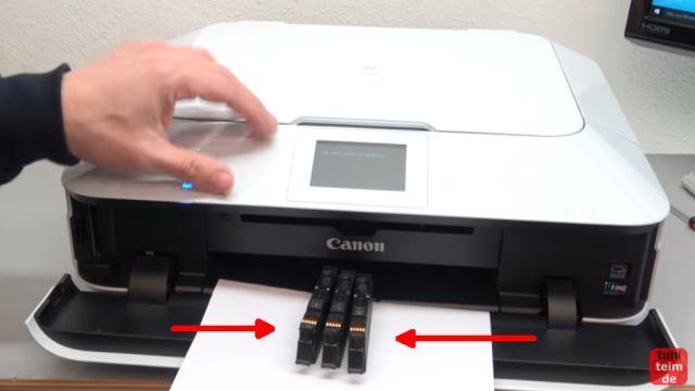 Canon Pixma Druckkopf Fehler 1403 - Druckkopftyp ist nicht korrekt - diese drei Patronen sind herausgenommen