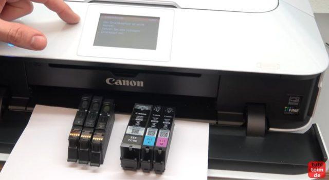 Canon Pixma Druckkopf Fehler 1403 - Druckkopftyp ist nicht korrekt - Pixma zeigt auch ohne Patronen nach wie vor den Supportcode 1403 Fehler an